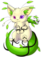 Semi-chibi Commission - Floating Vanilla Planty by FlareAKACuteFlareon