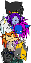 All of my characters by Hathor-the-Queen