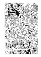 PHOENIX RESURRECTION:AFTERMATH pencils 13 by PinoRinaldi
