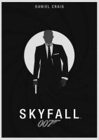 SKYFALL Minimalist Poster by JSWoodhams