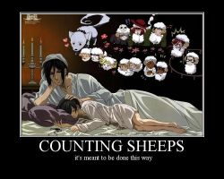 Counting Sheeps with Kuro by MachiKonjo