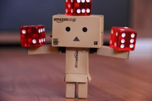 Danbo is balancing some dice by Skycaller1311