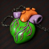 Toxic Heart Necklace by beatblack