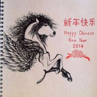 Year of Horse ... Happy Chinese New Year 2014 by Nichapon