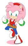 Commission Amy Rose Reboot by Domestic-hedgehog