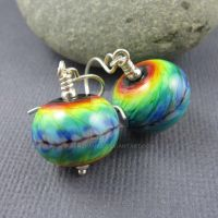 Rainbow Tie-Dye earrings by janehamill