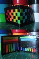Rainbow Checkered Wallet by Ultralee0