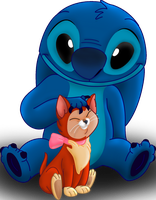 Stitch and Dinah by IMArellano
