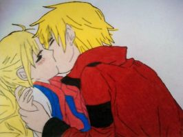 NeilxRio Kiss, Colored by HelloKittyTsi