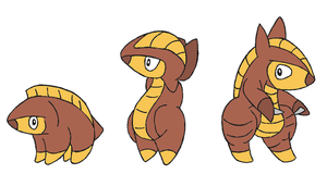 Fakemon- Pangolin Line by Casey333