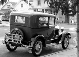 Antique Car bw II by KelbelleStock