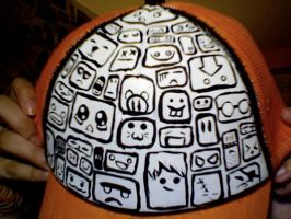 Squares and Faces Trucker Cap by kneesheellee