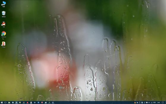 Raindrops On A Window DreamScene for XDesktop by xwidgetsoft