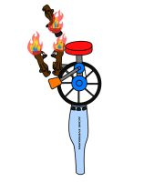 Unicycle on flaming torch by bearOnUnicycle