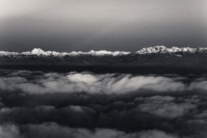 Olympic Mts BW by elpez7
