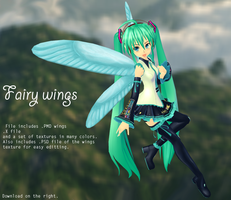 MMD Custom Fairy Wings by MMDFakewings18