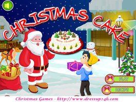 Christmas Cake - Cooking Games by willbeyou