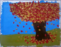Fall Tree (Oil Painting) by MonsterH2O