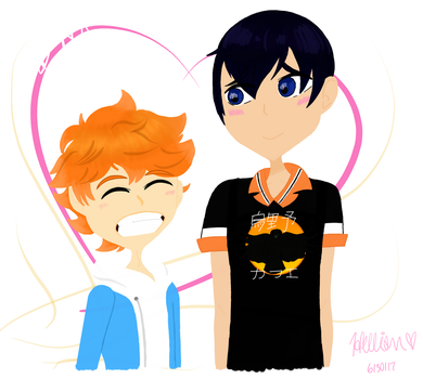 Kagehina Coffee AU  by NikkiTheGamer