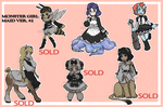Monster Maid Adoptables #2 (OPEN) by OOT-Link