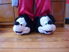 Mickey Mouse slippers by ExileLink