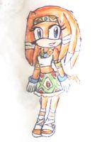 tikal the echidna by ninpeachlover