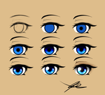 Eyes Step by step. by Quote-CurlyBrace