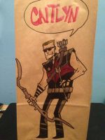 Hawkeye Lunch Bag by SpencerPlatt