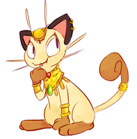 Egyptian Meowth by oriep