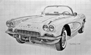 1962 Corvette Sketch by Daniel-Storm