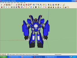 Megas XLR Project Extras: MEGAS in 3D 3 by MarcGo26