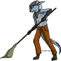 Mopping by spiralingdragon
