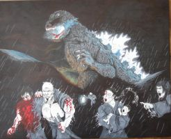 Victims of Godzilla by movieartman