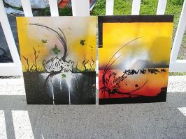 TWO canvas'... First timer.... by tasharoot2009
