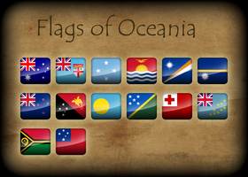Flags of Oceania by Kristo1594