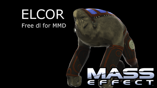(MMD Newcomer) Mass Effect Elcor by SCP-811Hatena