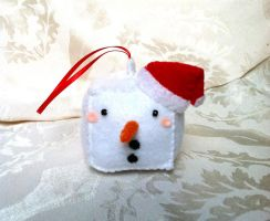 Snowman Christmas Ornament by PinkChocolate14