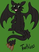 Giftart:Toothless by Shellsweet