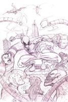 Spidey and Foes!! by MikeVanOrden