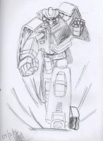 X-Bot Drawing by jay-stealth