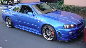 Blue Kaizo R34 GTR by Beowulf-BX