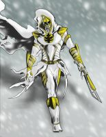 White Ranger Ninja by goldenmurals