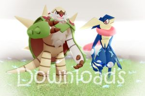 MMD Pokemon - Chesnaught and Greninja DL by Jakkaeront