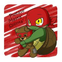 TMNT: Pwease Masta' Splinta' by NamiAngel