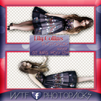 +Photopack Png Lily Collins by AHTZIRIDIRECTIONER