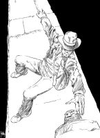 Daily Sketches Inking Indiana Jones by fedde