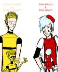 Tom Servo and Crow T. Robot by Poohbearlover42