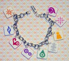 Digimon Crests Charm Bracelet by kouweechi