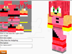 Alley Rose the Hedgehog in Minecraft by Erik-the-Okapi