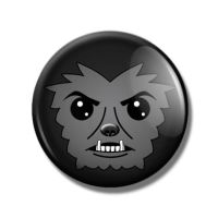 Wolfman Pin Back Button by Mutant-Cactus